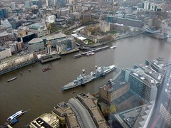 Tower & HMS Belfast from Shard (streetr's_flickr) Tags: theshardoflondon highrise panorama tallbuildings structures architecture london city hmsbelfast riverthames