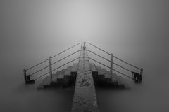 Step On (TS446Photo) Tags: nikkor seascape zeiss mono depthoffield fog mist digital flickr longexposure steps