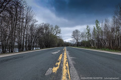 Open road (Sebastien P.) Tags: newbrunswick road yellowline yellow