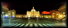 Acrilic (laluzdivinadetusojos) Tags: night vatican rome panorama