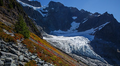 Lower Curtis Glacier (keithc1234) Tags: glacier mountain landscape lowercurtisglacier mountshuksan mtshuksan fallcolors hiking trail