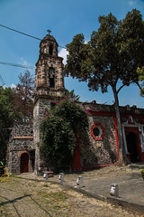 Paroquia San Sevastian 102 (L Urquiza) Tags: historic building church iglesia mexico ciudad city san angel chimalistac bell tower