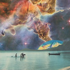 traveling the multiverse (Cerebral Lust) Tags: collage art handmade artwork collageart collageartwork handmadecollage handmadeart handmadeartwork cutandpaste cut paste space surf wake traveling multiverse cosmic light cerebralust cerebrallust growingtropics