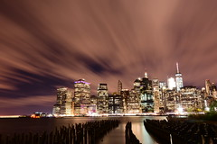 pier 1 (kaimonster) Tags: newyork manhattan skyline night longexposure wtc vacation nighttime brooklyn nyc urban city world trade center brooklynheights brooklynbridgepark