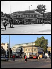 Great Portland Street station (Tetramesh) Tags: tetramesh london england britain greatbritain gb unitedkingdom uk londr   londres londn londen lontoo  londain londra londone londyn llundain londrez loundres londono londinium llondon lunnainn lndra localhistory nowandthen thenandnow pastandpresent oldlondon lostlondon presentandpast londonpast socialhistory uklocalhistory londonlocalhistory transporthistory londonstransportpastandpresent londonstransportnowandthen londonstransportthenandnow londonunderground tfl londontransport tube thetube metro greatportlandstreet greatportlandstreetstation eustonroad a501 nw1 nw14aq metropolitanrailway portlandroad greatportlandstreetregentspark metropolitanline hammersmithcityline circleline albanystreet cwclark benbrooksbank inchmole londonpassengertransportboard lptb