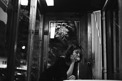 (laurapeagorostegui) Tags: 2015 cat blackandwhite black laurapeagorostegui bar cafe bubble bubblegum fashion moda street city night nighttime costume ideas waitress secret canon canon6d canon50mm14 woman girl attitude