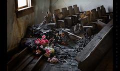 Discarded (Whitney Lake) Tags: abandoned church missouri flowers chairs window interior decay rurex urbex forsaken spiritual sacred