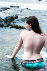 Tayliss Forge 'Siren' (SeanLaine) Tags: siren mermaid photoshoot cosplay laguna beach topless bikini blue tayliss forge