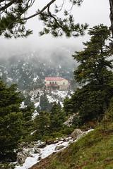 Bafi, Parnitha (nikolasga) Tags: parnitha road snow winter greece athens sony nex 5