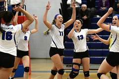 vballsouthington-BR-110216_1100 (newspaper_guy Mike Orazzi) Tags: 70200mmf28gvr volleyball sports nikon d500 tollandhighschool southingtonhighschool indoorsports availablelight highiso girls net court
