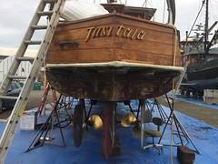 "IMG_9849 - Port Townsend WA - Shipyard - 1908 MV TUSITALA - for sale to the right owner (BlackShoe1) Tags: washington wash wa ""quimper peninsula"" ""jefferson county"" ""east jefferson ""port townsend"" ""victorian seaport"" seaport porttownsendshipyard porttownsendboathaven portofporttownsend woodboat wooden boatname board transom propellors twinscrew 1908"