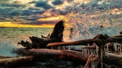 Spring waves (ossington) Tags: waves sunrise cold ice splash