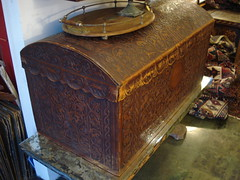 "LEATHER COVERED TRUNK • <a style=""font-size:0.8em;"" href=""http://www.flickr.com/photos/51721355@N02/30741580795/"" target=""_blank"">View on Flickr</a>"