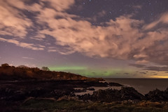 Orlock Point Aurora  22nd Nov 2016 (Philip McErlean) Tags: aurora borealis orlock point codown northern ireland lights nikon d5500