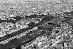 Paris (petia.balabanova(tnx for +2 million views)) Tags: paris france 2470mm travel monochrome blackandwhite bw buildins river bridges city cityscape view tour eiffel 1stfloor nikond800 seine
