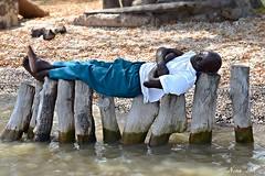 'Very Comfortable', he said!   Kunta Kinteh Island, The Gambia (Nina_Ali) Tags: unusualshots geometryofmind thegambia nikond5500 africa 2016 kuntakintehisland jamesisland peopleofthegambia ninaali