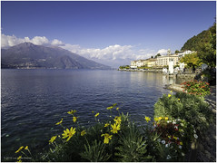 Bellagio, Lake Como (Luc V. de Zeeuw) Tags: building clouds comolake mountain sunny water bellagio lombardia italy