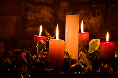 Advent Candles (littlestschnauzer) Tags: advent 2016 candles candle light december christian cofe emley uk england church celebration christmas xmas darkness flicker flame symbolic