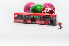 Park & Ride (abnormally average) Tags: santa preiser miniature hofigures ho scale littlepeople smallworld photography toy toys humour fun art lol bus parkandride christmas festive stnick fatherchristmas souppickle spickle