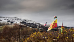Welsh Valleys (steved_np3) Tags: valleys wales welsh mountain snow sky dramatic flag british clouds