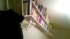 Stairway2D (T-sign) Tags: bookshelf design steel frame clothes hanger books magnets magnetic hook magneti struttura acciaio ferro libreria