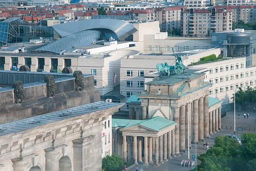 Berlin - Brandenburg gate from the Reichstag
