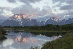 Mount Moran-5992-2 (twdenman) Tags: tetons oxbowbend mountmoran sunrise mountmoransunrise reflection snakeriver