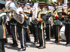 Well polished brass (prondis_in_kenya) Tags: kenya nairobi shortrains holyfamily basilica church cathedral catholic uniform uniformedservices thanksgiving music instrument