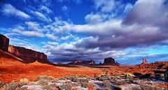 Monument Valley (Albert Jafar) Tags: monumentvalley sandstonebuttes page arizona navajoindianreservation outdoor rocksgeology bluesky utah photographerswharf ngc fantasticnature