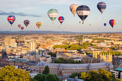 Bristol Balloon Fiesta (LongLensPhotography.co.uk - Daugirdas Tomas Racys) Tags: bristol cabbot balloon balloons cathedral centre city council evening festival fiesta golden hill hour light panorama skyline spectacle view