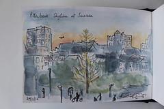 Sketchbook 29 (chando*) Tags: sketch croquis watercolor aquarelle bruxelles brussels etterbeek cityscape urbansketching