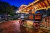 Luggage Cart - EXPLORE (Matt Valeriote) Tags: hdr disneyland disney californiaadventure mainstreetusa disneylandrailroad luggage suitcases night train trainstation