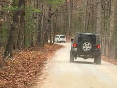 Gravel road traffic jam at @redrivergorgeky in late November #naturephotography #iphonephotography #kytourism #fallcolors2016 #backroads #gravelroads