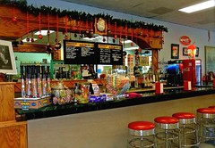 We Have Decked The Halls And The Walls, Down At the Old Timey Soda Fountain ... (~ Cindy~) Tags: oldtimesodafountain rockwood tennessee decoratedforchristmas 2016 tn christmas december
