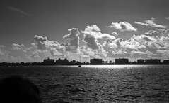 Morning over Lake Worth (PositiveAboutNegatives) Tags: rangefinder kievii kiev2 vintagecamera 50mm sonnar jupiter8 film analog adox cmsii bw blackandwhite clouds lakeworth florida coolscan