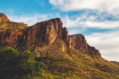 superstition mtn, az (courtneywiatt) Tags: lightroom f2 vsco perception shrubbery cloudy clearsky sky green red blue nature beauty azphotographer az canoneost4i eos canon warm landscape mountain superstition