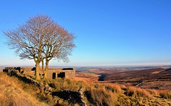 Top Withens in sunshine (Majorshots) Tags: topwithins haworthmoor haworth westyorkshire yorkshire topwithens bronts bronteway pennineway