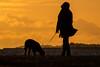 (Topolino70 **** Thanks for Million Views! *****) Tags: sunset woman dog shore sea pet lauttasaari helsinki finland