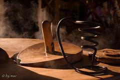 Out of the cold, inside the heat (Bernd Machmueller) Tags: smoke heat esslingen mittelalt maronen handwerk dampf hitze rsten mittelaltermarkt weihnachtsmarkt holz rauch spirale dark mystic mystik spirit magisch magic magie zauber fantastic gesellig mystisch