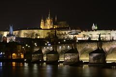 Charles Bridge & St. Vitus Cathedral (Mayer Martin) Tags: nikon czech republic praha prague karlv most charles bridge vltava river historic city center night photography