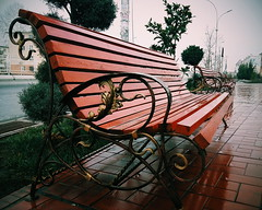 Let's go to the Bench. # #Winter #Bench #Street #RainyWeather (igorpo91) Tags:  street bench rainyweather winter