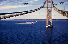 #Mackinac Bridge under construction, late 1950s [1202x788] #history #retro #vintage #dh #HistoryPorn http://ift.tt/2hgxj2o (Histolines) Tags: histolines history timeline retro vinatage mackinac bridge under construction late 1950s 1202x788 vintage dh historyporn httpifttt2hgxj2o