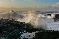 Edge of the Churn (alex1derr) Tags: capeperpetua devilschurn oregoncoast rocks splash spray wave