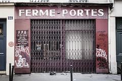 """The """"Ferme-Portes"""" is Closed - Paris (Remy Carteret) Tags: rueamelot paris fermeporte magasin ferm magasinferm closed canon 5d mkii mk2 markii france eos remycarteret rmycarteret canon5dmarkii canon5dmark2 canoneos5dmarkii canoneos5dmark2 5dmark2 5dmarkii mark2 canon5d color colors architecture iledefrance fermeportes lefermeportes portes automatiques portesautomatiques fpa fermeporteautomatique fermesportesautomatiques"""