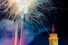 Happy New Year 2017 (Peter PeBe Bosko) Tags: silvester 2016 staralubovna kostol church newyear novyrok d610 28300mm nikond610 fireworks firework 2017 ohnostroj pyrotechnics longexposure nikonphotography nightlife slowakei slovakia slovensko nikkor fire 新年快乐 烟花