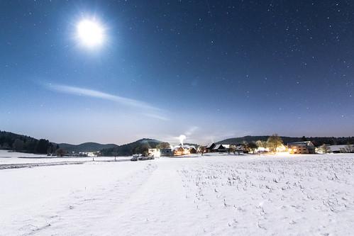 Mondschein bei -25°C in der Frankenalb