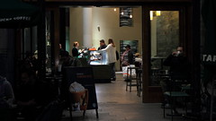 Guilty Pleasure (peterned) Tags: street light people coffee amsterdam canon pumpkin eos evening store october spice happiness starbucks 7d pleasure guilty damrak 2014 geluk 1755mm