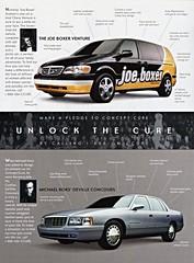 1998 GM Concept Cars (aldenjewell) Tags: chevrolet michael gm breast general ad cancer joe cadillac motors nicholas chevy boxer 1998 concept venture deville concours graham cure kors