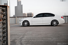 f310-brushed-gloss-black-bmw-f30-335i-side (AvantGardeWheels) Tags: two black wheel by with wheels f30 bmw billy gloss custom rim rims tone lowered function avant garde forged concave brushed monoblock 3series f310 335i billyby monoforged agwheels agfunction
