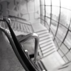Castle House Stairwell (pho-Tony) Tags: 2 blackandwhite bw white 3 black building 120 6x6 film home festival analog vintage mediumformat diy bc iso400 sheffield fsu delta grade ishootfilm fisheye ii 400 soviet mind processing medium format analogue russian society kiev ultrawide developed ilford ilforddelta400 listed ussr 400asa distorsion distort status developing barrell cooperative f35 arsat rollfilm kiev60 monchrome 30mm zodiak brightside ilfosol 3035 filmisnotdead carbrook zodiak8b ilfosol3 8 festivalofthemind brightsideandcarbrook zodiak8b zodiak30mmlens gradeiilistedbuildingstatus sheffieldcooperativesociety